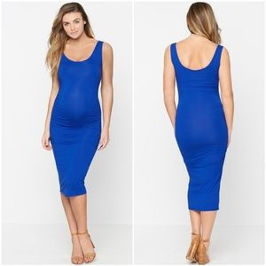 Isabella Oliver Ellis Maternity Tank Dress in Blue